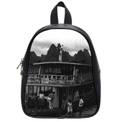 Vintage China Guilin river boat 1970 Small School Backpack