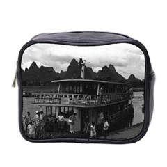 Vintage China Guilin river boat 1970 Twin-sided Cosmetic Case