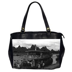 Vintage China Guilin river boat 1970 Twin-sided Oversized Handbag
