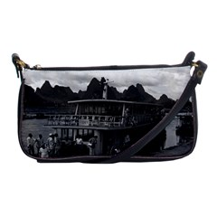 Vintage China Guilin river boat 1970 Evening Bag