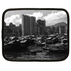 Vintage China Hong Kong Houseboats River 1970 15  Netbook Case