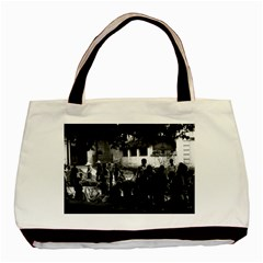 Vintage China Yangshuo Market 1970 Black Tote Bag