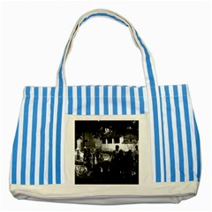 Vintage China Yangshuo market 1970 Blue Striped Tote Bag