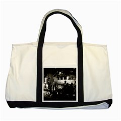 Vintage China Yangshuo market 1970 Two Toned Tote Bag
