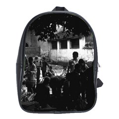 Vintage China Yangshuo Market 1970 Large School Backpack