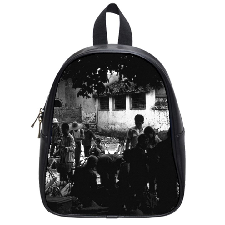 Vintage China Yangshuo market 1970 Small School Backpack