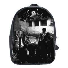 Vintage China Yangshuo market 1970 School Bag (XL)