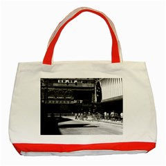 Vintage China Hong Kong Street City 1970 Red Tote Bag