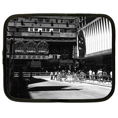 Vintage China Hong Kong street City 1970 12  Netbook Case
