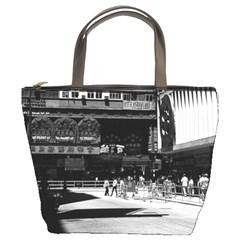 Vintage China Hong Kong street City 1970 Bucket Handbag