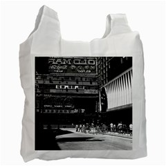 Vintage China Hong Kong street City 1970 Twin-sided Reusable Shopping Bag