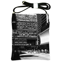 Vintage China Hong Kong street City 1970 Cross Shoulder Sling Bag