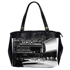 Vintage China Hong Kong Street City 1970 Twin Sided Oversized Handbag