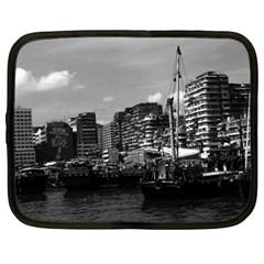 Vintage China Hong Kong Houseboats River 1970 12  Netbook Case