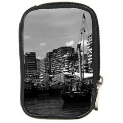Vintage China Hong Kong Houseboats River 1970 Digital Camera Case