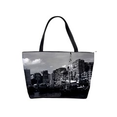Vintage China Hong Kong Houseboats River 1970 Large Shoulder Bag