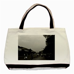 Vintage China Guilin street bicycles 1970 Twin-sided Black Tote Bag