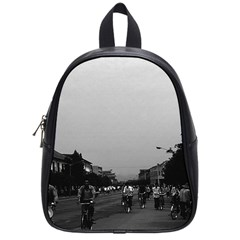 Vintage China Guilin street bicycles 1970 Small School Backpack