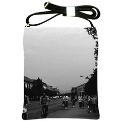 Vintage China Guilin Street Bicycles 1970 Cross Shoulder Sling Bag