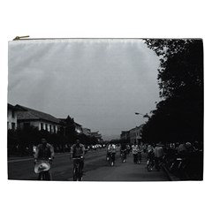 Vintage China Guilin street bicycles 1970 Cosmetic Bag (XXL)