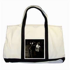 Vintage China Shanghai Morning Gymnastic 1970 Two Toned Tote Bag