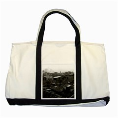 Vintage China Canton City 1970 Two Toned Tote Bag