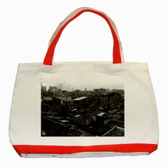 Vintage China Canton City 1970 Red Tote Bag