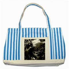 Vintage China Canton restaurant 1970 Blue Striped Tote Bag