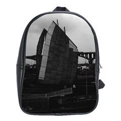 Vintage China Changsha Xiang Jiang River Boat 1970 Large School Backpack