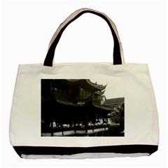 Vintage China Shanghai Yuyuan garen Dianchun hall 1970 Black Tote Bag