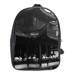 Vintage China Shanghai Yuyuan garen Dianchun hall 1970 Large School Backpack
