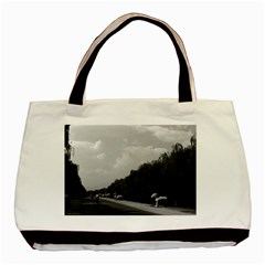 Vintage China Pekin Beautiful Pathway Ming Tombs 1970 Black Tote Bag