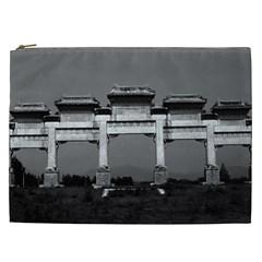 Vintage China Pekin gate ming tombs 1970 Cosmetic Bag (XXL)