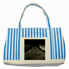 Vintage China Pekin Temple Of Heaven 1970 Blue Striped Tote Bag