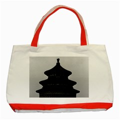 Vintage China Pekin Temple of Heaven 1970 Red Tote Bag