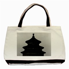 Vintage China Pekin Temple of Heaven 1970 Twin-sided Black Tote Bag