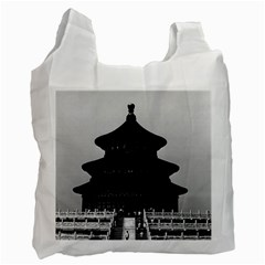 Vintage China Pekin Temple of Heaven 1970 Twin-sided Reusable Shopping Bag