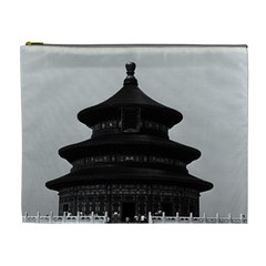 Vintage China Pekin Temple of Heaven 1970 Extra Large Makeup Purse