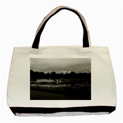 Vintage China Guilin Cormorant Fisherman 1970 Twin-sided Black Tote Bag