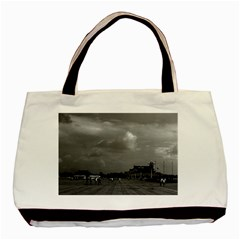 Vintage China pekin Tiananmen square 1970 Twin-sided Black Tote Bag