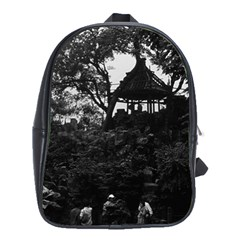 Vintage China Shanghai Yuyuan Garden 1970 Large School Backpack