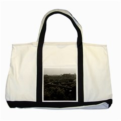 Vintage China Shanghai City 1970 Two Toned Tote Bag