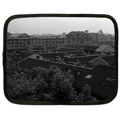 Vintage China Shanghai City 1970 12  Netbook Case