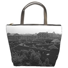Vintage China Shanghai City 1970 Bucket Handbag