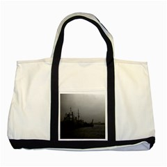 Vintage China Shanghai Port 1970 Two Toned Tote Bag
