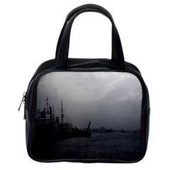 Vintage China Shanghai port 1970 Single-sided Satchel Handbag