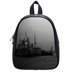 Vintage China Shanghai port 1970 Small School Backpack