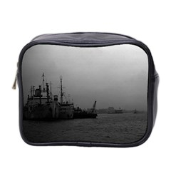Vintage China Shanghai port 1970 Twin-sided Cosmetic Case