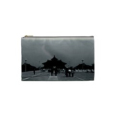 Vintage China Pekin forbidden city gate 1970 Small Makeup Purse