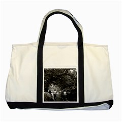Vintage China Shanghai Street 1970 Two Toned Tote Bag